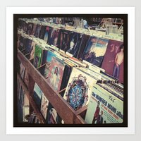 The Record Store (An Ins… Art Print