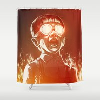 FIREEE! Shower Curtain