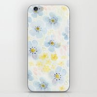 Blue Fields. Fictional Flowers. iPhone & iPod Skin