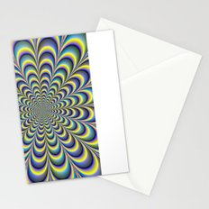 Yellow and Blue Rosette Stationery Cards