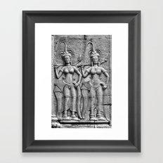Cambodian Fertility Goddesses Framed Art Print