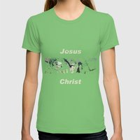 Jesus Christ Womens Fitted Tee Grass SMALL