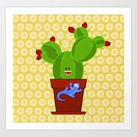 Art Print featuring my dear cactus by Alapapaju