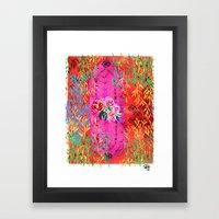 Roses And Sail Framed Art Print