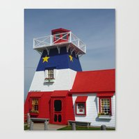 Acadian Lighthouse Canvas Print