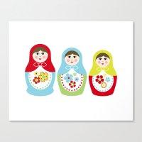 Matrioshka Dolls - Trio Canvas Print