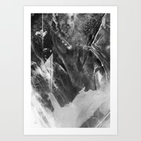 Black Crystal Art Print