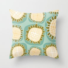 Cote d'Azur Blooms Throw Pillow