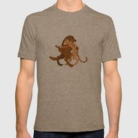 dancing Mens Fitted Tee Tri-Coffee SMALL