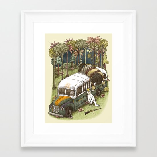 Into The Wild Things Framed Art Print