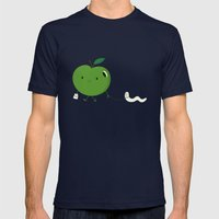 Apple's pet Mens Fitted Tee Navy SMALL
