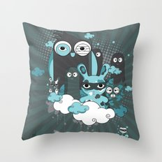 Nocturnal Friends Throw Pillow