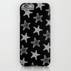 Starfish White on Black iPhone 6 Slim Case