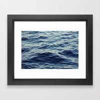 Water Waves Framed Art Print