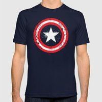 Captain's America Splash Mens Fitted Tee Navy SMALL