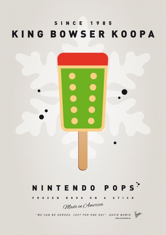 My NINTENDO ICE POP - King Bowser Canvas Print