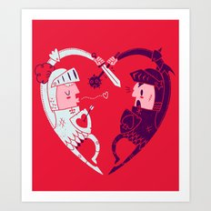 All Is Fair In Love And War Art Print