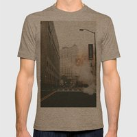 Fort & Shelby Mens Fitted Tee Tri-Coffee SMALL