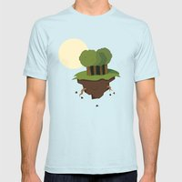 Forest Mens Fitted Tee Light Blue SMALL