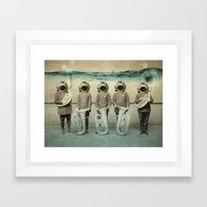 The Diving Bell Tuba Qui… Framed Art Print