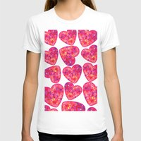 hearts T-shirts featuring Hearts by luizavictorya72