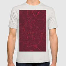 BERLIN GERMANY MAP Mens Fitted Tee Silver SMALL
