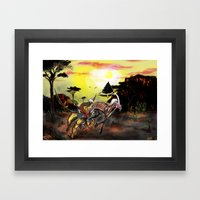 Final Fantasy 8 Chimera vs Mesmerize Framed Art Print