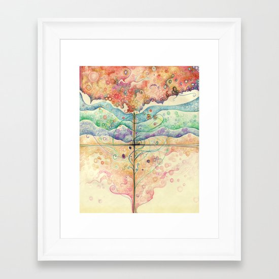 Where everything is music Framed Art Print
