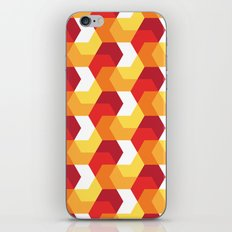 Hexagons on fire! iPhone & iPod Skin
