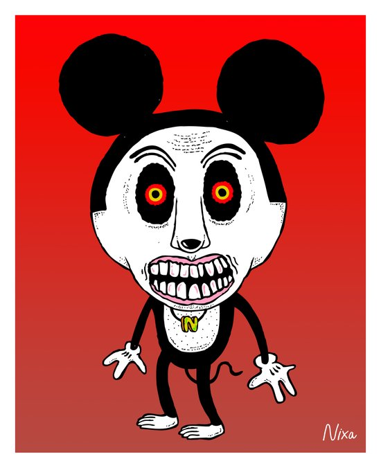 Weird Mickey Art Print
