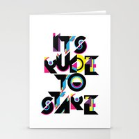 It's Rude To Stare Stationery Cards