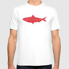 Swedish Fish Mens Fitted Tee SMALL White