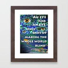 An Eye for an Eye - Gandhi Framed Art Print