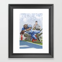 Wildcats Versus Gators Framed Art Print