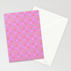 Pastel Broken Diamond Swirl Pattern Stationery Cards