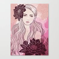 Tropical Girl Canvas Print