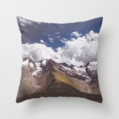 The mighty glaciers Throw Pillow