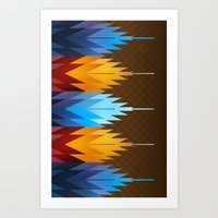 Navajo Fire & Ice Art Print