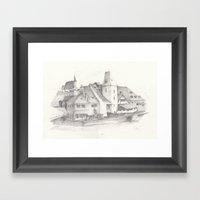 The Magic Town Framed Art Print