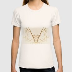 branches#01 Womens Fitted Tee Natural SMALL