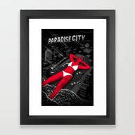 Framed Art Print featuring Cities Of Rock - Los Ang… by Sam Werczler