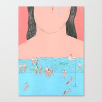 80% Water 20% Drama Canvas Print