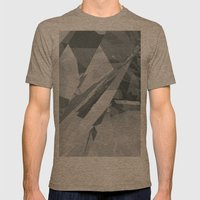 Ice cracks #2 Mens Fitted Tee Tri-Coffee SMALL