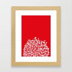 Red Birds Framed Art Print