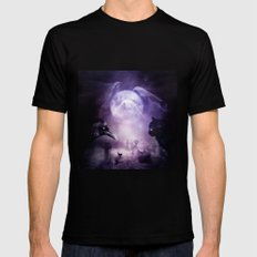 In The Glow of Darkness We Wait Mens Fitted Tee Black SMALL