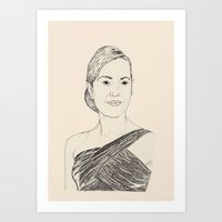 Kate Winslet Portrait Art Print
