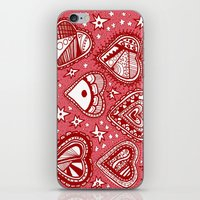Love Hearts Pink iPhone & iPod Skin