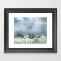 Fenceline Framed Art Print