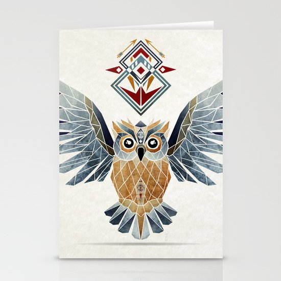 owl winter Stationery Card