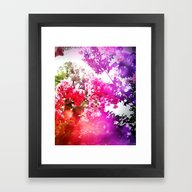 Framed Art Print featuring Floral by WhimsyRomance&Fun